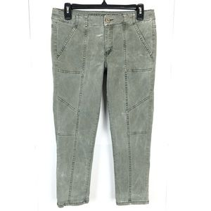 AMERICAN EAGLE ARMY GREEN JEGGING CROP SIZE 6